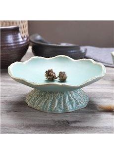 Irregular Shape Ceramic Creative Style Fruit Plate