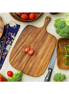 Raw Wood Simple Style Square Shape Pizza Plate