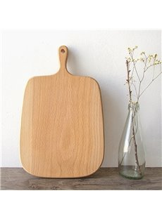 Natural Beech Simple Style Square Shape Pizza Plate