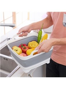 Fold Simple Modern Style Handle Fruit and Vegetable Basket