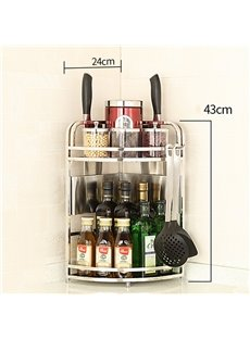 Stainless Steel Chinese Style Pure Color Storage Rack