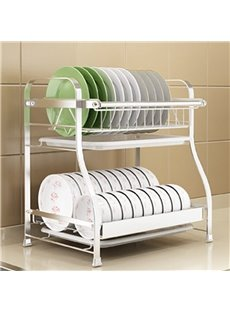 Stainless Steel Detearing Bowls Kitchen Storage Rack