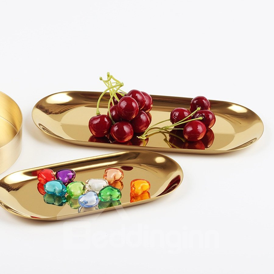 Nordic Style Stainless Steel Jewelry Pure Color Tray