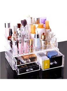 Cosmetics Home Transparent Drawer Type Acrylic Storage Box