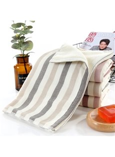 Quick-Dry Rectangular Simple Style Stripe Pattern Towel