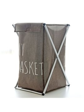 Flax-Like Muiltifunction Laundry Bag Bathroom Storage Rack