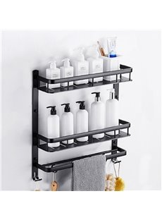Bathroom Multilayer Aluminum Simple Style Storage Rack