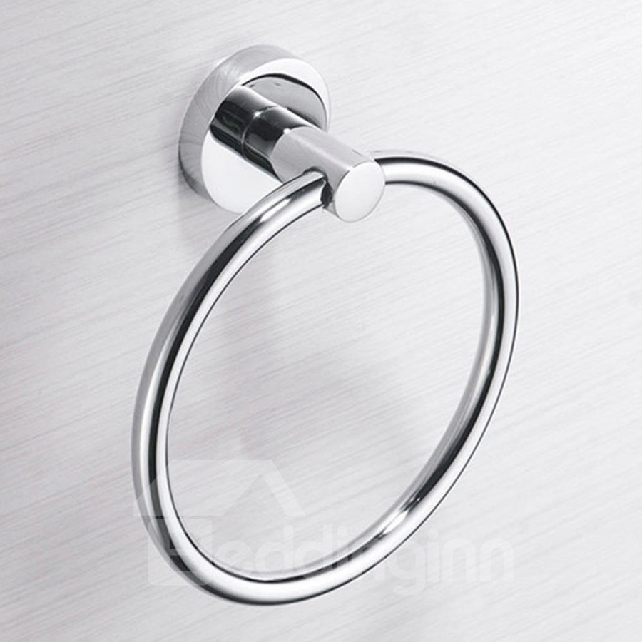 Stainless Steel Free of Punch Restroom Bathroom Towel Ring