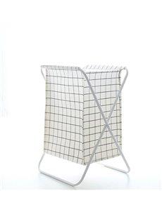 Grid Pattern Multifunction Japanese Style Canvas Storage Organizer