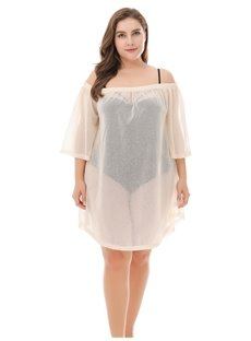 Bikini Loose Model Sun Block Smock Urban Casual Style Plus Size Dress