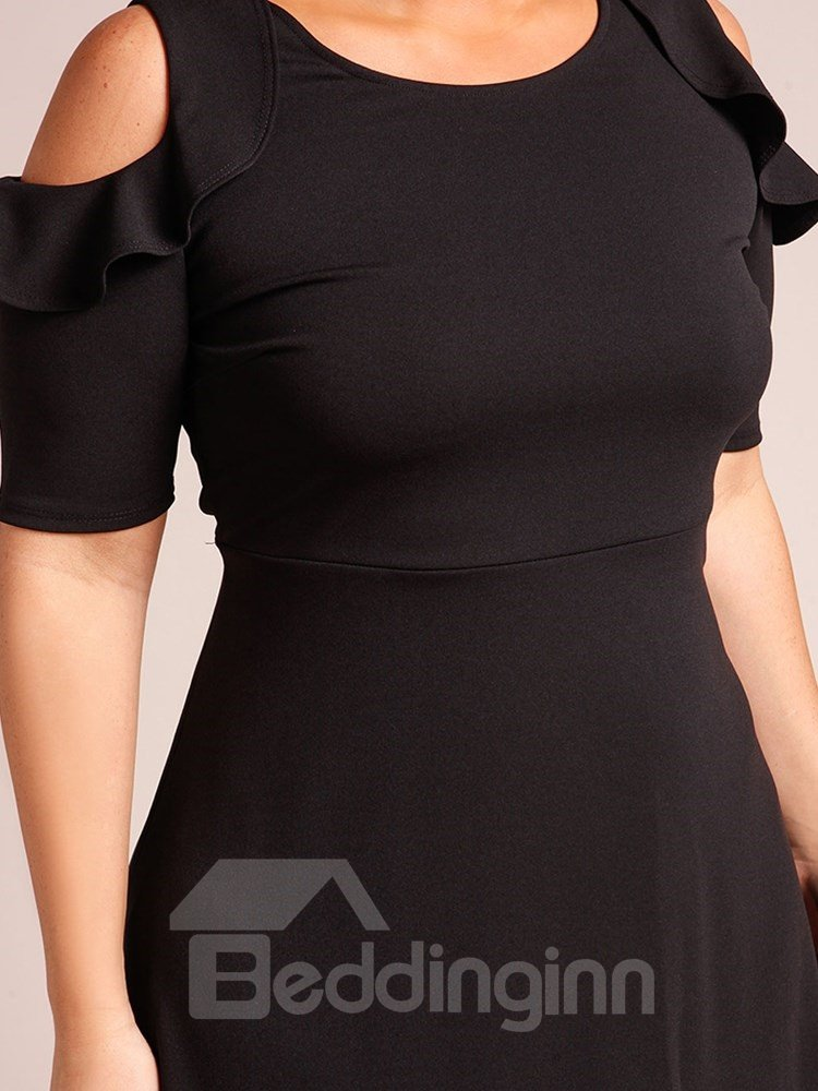 Off-The-Shoulder Knitting Technics Spandex Plus Size Clothing
