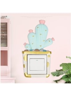 3D Environment Friendly Resin Cactus Shape Switch Removable Wall Sticker