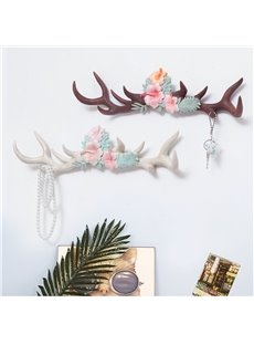 19.7*5.3in Environment Friendly Resin Antler Shape Decorative Wall Hooks