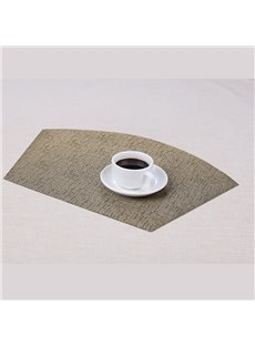 Home Decorative 45*30cm Plastic Material Fan Shape Heat Insulation Table Placemat