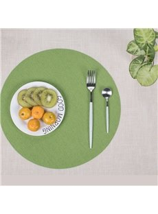 35*35cm Circular Shape Home Decorative Plastic Material Heat Insulation Table Placemat