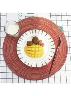 35*35cm Home Decorative Plastic Material Circular Shape Heat Insulation Table Placemat