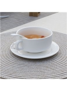 38*38cm Home Decorative Plastic Material Circular Shape Heat Insulation Table Placemat