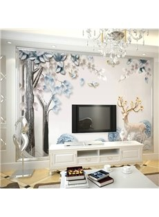 Environment Friendly Waterproof Non-woven Fabrics Dreamlike Deerlet Wall Mural
