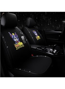 Cute Cartoon Pattern Cotton Material Girly Universal Fit Car Seat Covers