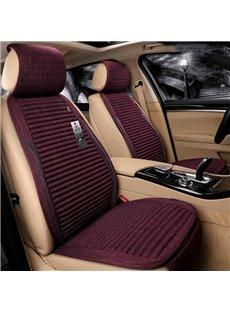 Simple Stripes Design Pure Color Linen Universal Fit Car Seat Covers
