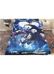 3D Fierce Man and Ghost Halloween Printing 3-Piece Bedding Sets/Duvet Covers