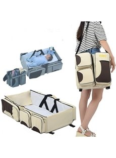 Fabric Material Waterproof Collapsible Baby Bed Portable Mother Bag Large Capacity Outdoor Hand Bag