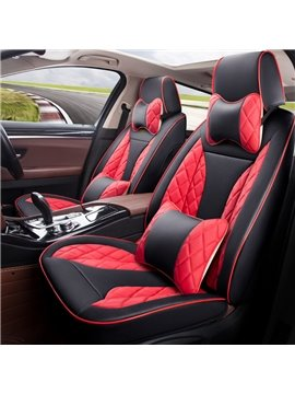Dynamic 3D Shape Sports Style Leather Universal Fit Car Seat Covers