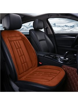 Heating Cushion Simple Style Plain Pattern Heating Single Car Seat Cover