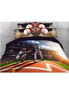 Baseball_Player_on_the_Filed_Digital_Printed_3D_4Piece_Bedding_SetsDuvet_Covers