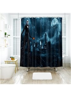 Tomb Halloween Scene Pattern Polyester Anti-Bacterial Shower Curtain
