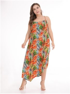 Sleeveless Cotton Ankle-Length Pullover Plus Size Dress