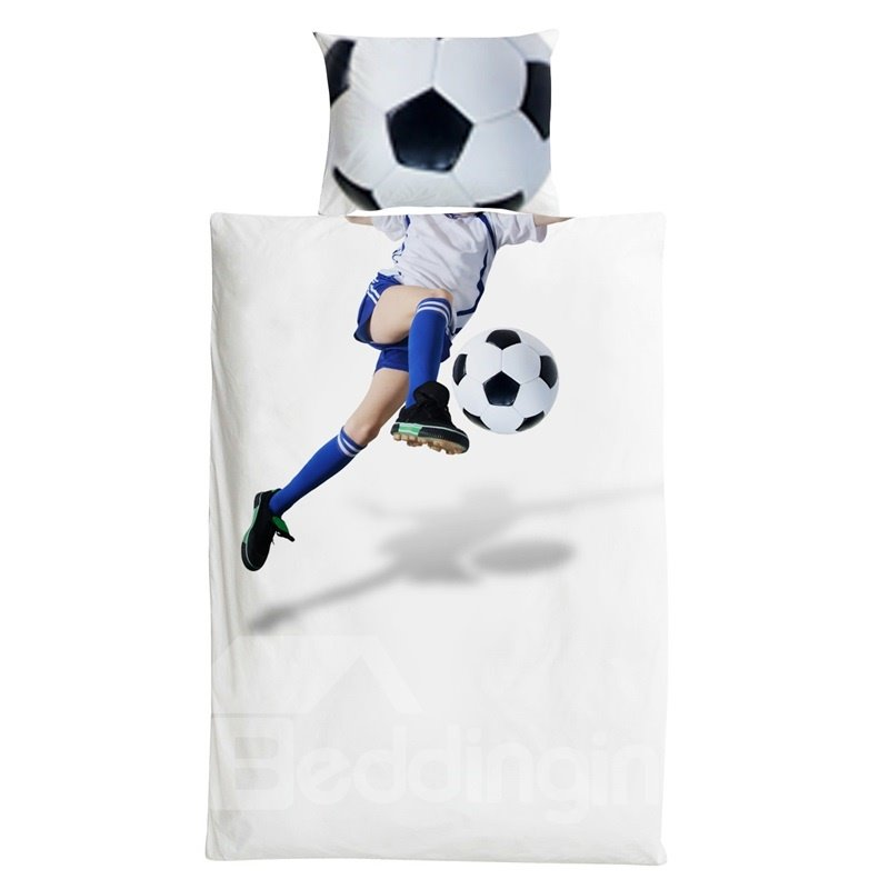 3 Pieces Cotton Material Football Player Boy Bedding Sets/Duvet Covers