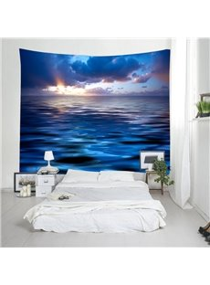 3D Sea and Sunrise Scenery Decorative Hanging Wall Tapestry