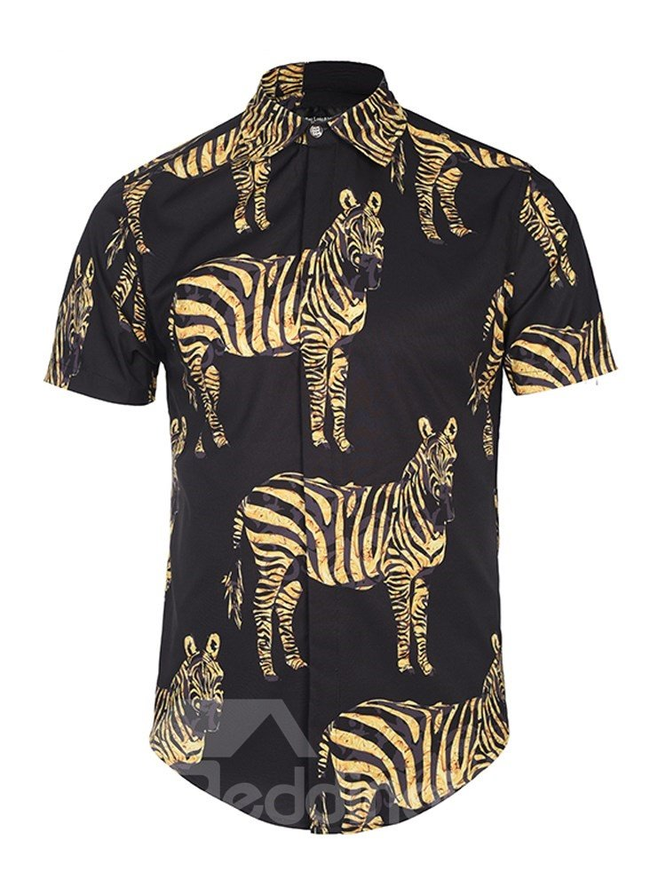 Loose Model Lightweight Casual Style 3D Painted Shirt