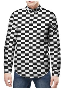 Vibrant Color Lightweight Long Sleeve Polyester 3D Painted Shirt