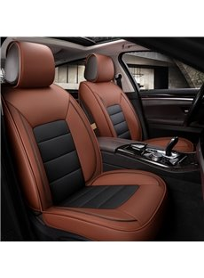 Classic Business Style Smooth Leather Material Universal Fit Car Seat Covers