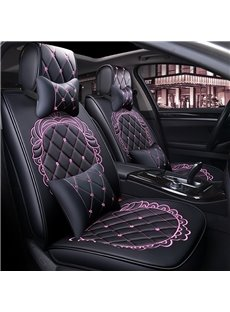 Aristocratic Style with Forgetive Pattern Leather Universal Fit Car Seat Covers