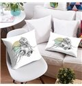 3D Monster and Skeleton Halloween Symbol Printing Polyester Throw Pillow