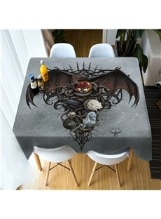 3D Halloween Ghost and Werewolf Printing Polyester Table Cover Cloth