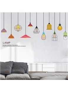 DIY Lamp Pattern Environment Friendly PVC Waterproof Living Room Kids Room Wall Sticker