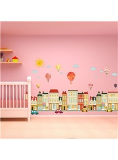 Environment Friendly PVC Waterproof Cartoon Balloon Kids Room Wall Sticker