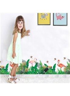 Flamingo Pattern PVC Waterproof Home Decor Living Room Kids Room Wall Sticker