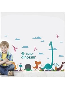 Dinosaur Pattern PVC Waterproof Home Decor Living Room Kids Room Wall Sticker