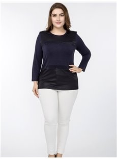 Long Sleeve Base Shirt Cotton Pure Color Plus Size T-shirt
