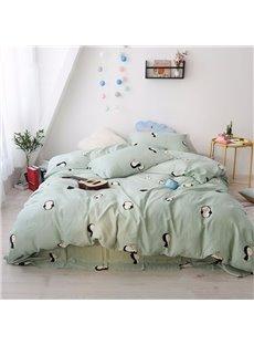 Cute Penguin Pattern Simple Design 4-Piece Kids Bedding Sets/Duvet Cover