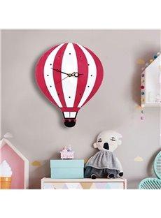 Cartoon Balloon Pattern Acrylic Kids Room Decor Mute Wall Clock