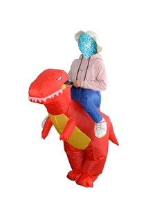 Funny Tyrannosaurus Rex Ride on Halloween Party Inflatable Costume for Adult