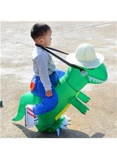 Little Green Tyrannosaurus Rex Halloween Party Inflatable Costume for Children