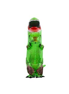 Green Tyrannosaurus Rex Funny Halloween Party Inflatable Costume for Adult