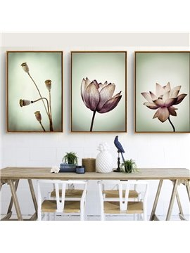 5 Size For Choice Lotus Pattern Simple Style Waterproof Wall Prints
